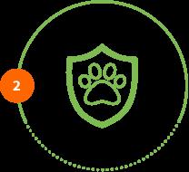 Höper Icon Tierversicherung Schild Pfote Schritt 2