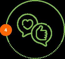 Höper Tierversicherungen Icon Herz Daumen Schritt 4